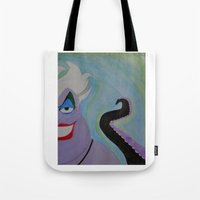 ursula Tote Bags featuring Ursula by Sierra Christy Art