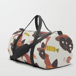 Vintage Halloween Cats Duffle Bag