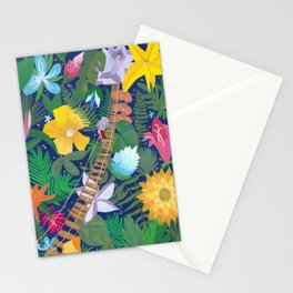 Bridge of Tropical Flowers Stationery Cards
