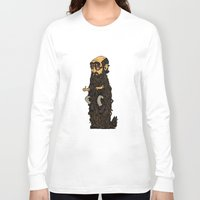 beard Long Sleeve T-shirts featuring Beard by George Azmy