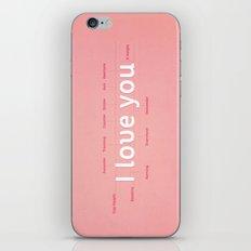 I love you iPhone & iPod Skin
