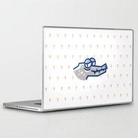 crocodile Laptop & iPad Skins featuring crocodile by Eolia