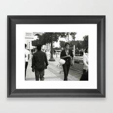 Who's that boy? Framed Art Print