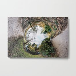 [N]Ever Green #2 The Rabbit Hole. Metal Print