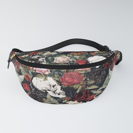 Vintage Floral With Skulls Fanny Pack