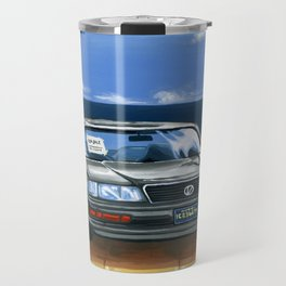 Street Fighter II Bonus Stage Car Travel Mug