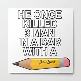 john wick Metal Print