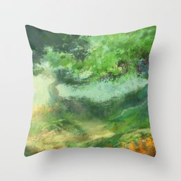 Two Tree Meadow Throw Pillow