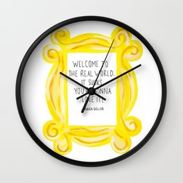 Friends - Welcome to the Real World Wall Clock