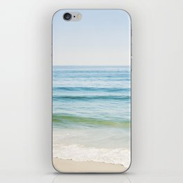 Ocean Seascape Photography, Blue Sea Landscape, Beach Waves Coastal, Seashore Horizon iPhone Skin
