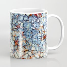 Colorful Abstract Paint and Rust Mosaic Coffee Mug