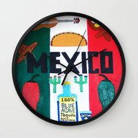 mexico Wall Clocks featuring Mexico by Jake Hollywood