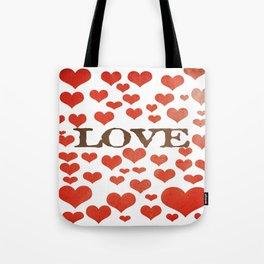 Love Heart Valentines Design  Tote Bag