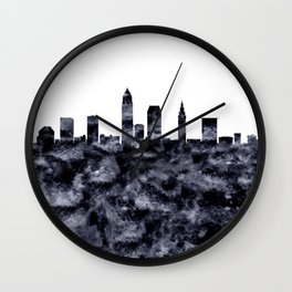 Cleveland Skyline Ohio Wall Clock