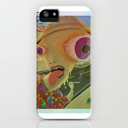 On The Edge Of The Desert iPhone Case
