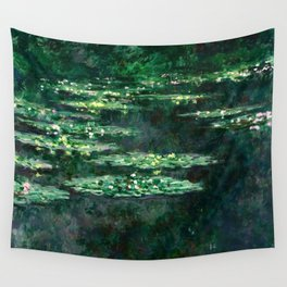 1904-Claude Monet-Waterlilies-89x92 Wall Tapestry