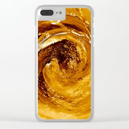 Golden Spin Clear iPhone Case