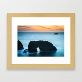 Sunset at Arch Rock Framed Art Print