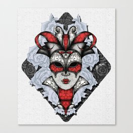 Queen of Harlequins Canvas Print