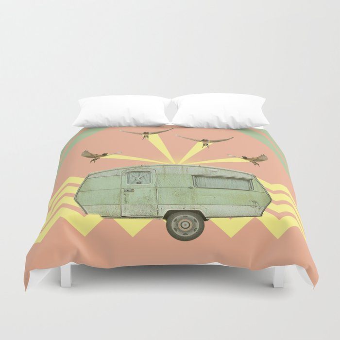The best way to travel Duvet Cover