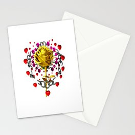 Love rose breaks all chains, hatetolove Stationery Cards
