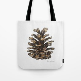 Pinecone watercolor Tote Bag