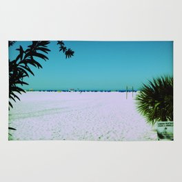 Tropical Beach Scene Photography Rug