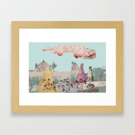 Flowers and Birds Framed Art Print