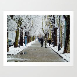 Neve mattutina Art Print