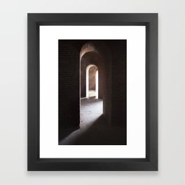 Arches, darkness into ligt Framed Art Print