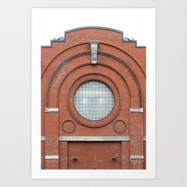 A Big Round Window Art Print