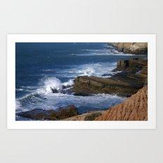Waves On The California Coast Art Print