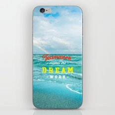 Dream work iPhone & iPod Skin