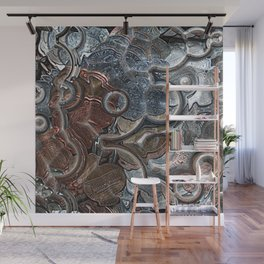 Abstract Coins Wall Mural