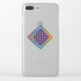 Gradient Rhombus Clear iPhone Case