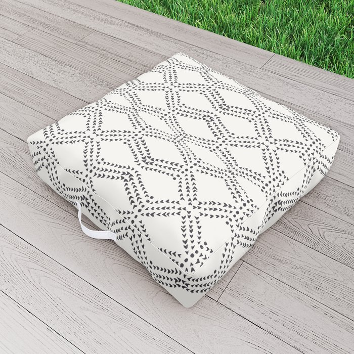 Cleo - boho diamond Outdoor Floor Cushion