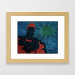 Super Hero - Reflection Of Home Framed Art Print