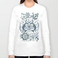 narwhal Long Sleeve T-shirts featuring Narwhal by AmKiLi