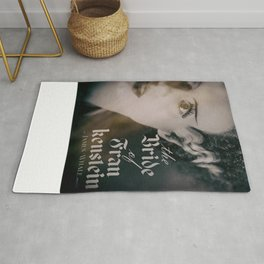 The Bride of Frankenstein, vintage movie poster, Boris Karloff cult horror Rug