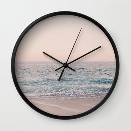ROSEGOLD BEACH MORNING LANDSCAPE Wall Clock