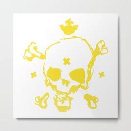 XXX Skull Metal Print