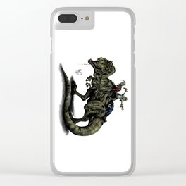 Zombies Riding a Trex Clear iPhone Case