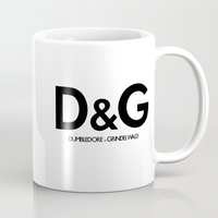 dumbledore Mugs featuring Dumbledore & Grindelwald by Christina