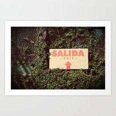 Salida Art Print