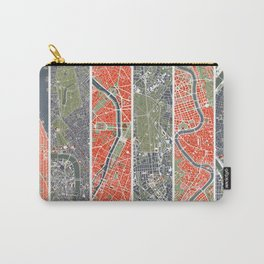 Six cities: NYC London Paris Berlin Rome Seville Carry-All Pouch