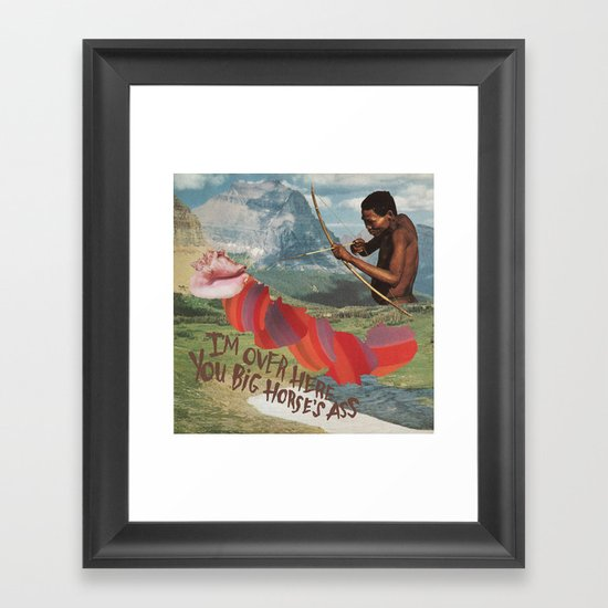 HORSE'S ASS Framed Art Print