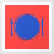 Dinner! Art Print