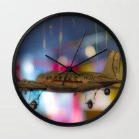 plane Wall Clocks featuring Plane by Sébastien BOUVIER