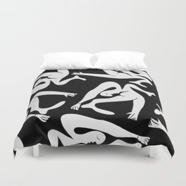 Picasso Pattern - Black and White Duvet Cover