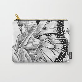 Shy Butterfly Carry-All Pouch